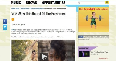 VO5 WINS mtvU's The Freshmen Contest!