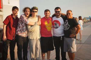 The Inoculated Canaries hanging out with HIP's Andy Gesner in Belmar, NJ!